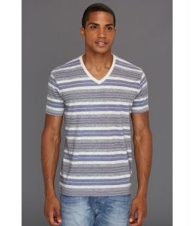 Lucky Brand Baja Stripe V Neck Mens T Shirt (Multi)