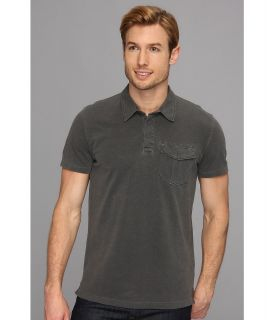 Lucky Brand Pacific Polo Mens Short Sleeve Pullover (Gray)