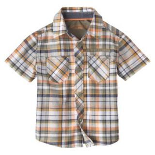 Genuine Kids from OshKosh Infant Toddler Boys Short  Sleeve Plaid Buttondown