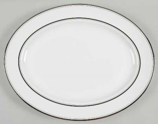 Lenox China Library Lane Platinum 16 Oval Serving Platter, Fine China Dinnerwar