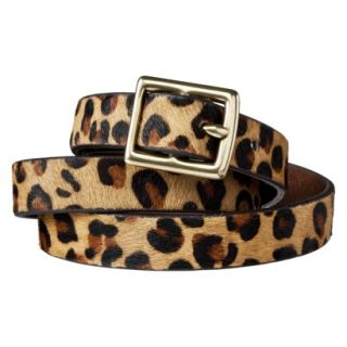 Merona Leopard Print Calf Hair Belt Brown/Tan   XL