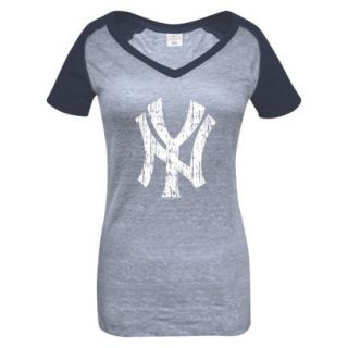 MLB Womens New York Yankees T Shirt   Grey/Navy (L)