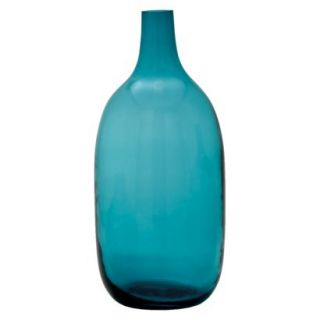 Bolo Glass Vase   Turquoise 14.5 by Torre & Tagus