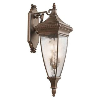 Kichler 49135BRZ Outdoor Light, Classic (Formal Traditional) Wall Lantern 4 Light Fixture Bronze