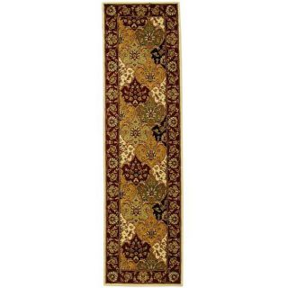 Lyndhurst Collection Multicolor/ Red Runner (23 X 6)