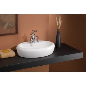 Cheviot 1273 WH 1 Milano Vessel Sink with Single Hole Faucet Drilling