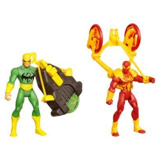 Marvel Ultimate Spider Man Power Webs Figure 2 Pack (Dragon Disc Iron Fist and