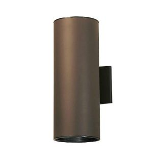Kichler 9246AZ Outdoor Light, Hard Contemporary Wall 2 Light Fixture Architectural Bronze