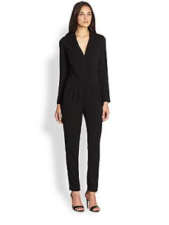 Line & Dot Double Breasted Jumpsuit   Black