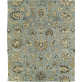Christopher Kashan Hand tufted Light Blue Rug (4 X 6)