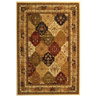 Lyndhurst Collection Multicolor/ Ivory Rug (9 X 12)