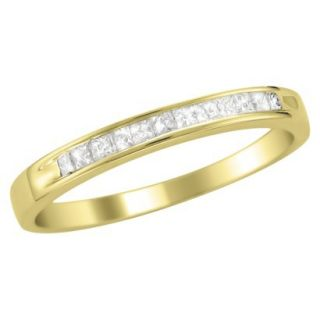 1/4 CT.T.W. Ring Band 14K Yellow Gold   Size 7.5