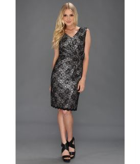 Tahari by ASL S/L Bonded Lace Cocktail Womens Dress (Black)