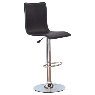 Winsome Wood Adjustable Single Curve Back Air Lift Swivel Bar Stool Multicolor