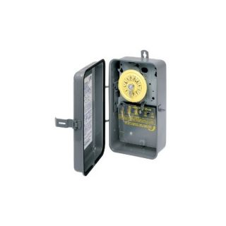 Intermatic T103R Timer, 125V DPST 24Hour Rain Tight Mechanical Time Switch
