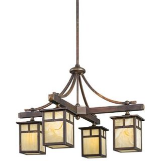 Kichler 49091CV Outdoor Light, Arts and Crafts/Mission 1333 4 Light Fixture Canyon View