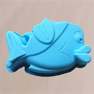 Fish Shape Cake or Budding Mould, Silicone Material, Random Color