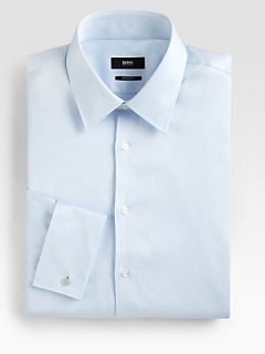 BOSS HUGO BOSS Blue Diamond Dress Shirt   Blue
