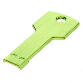 Key Shaped Metal USB Flash Drives 4G(Green)