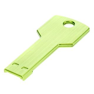 Key Shaped Metal USB Flash Drives 8G(Green)