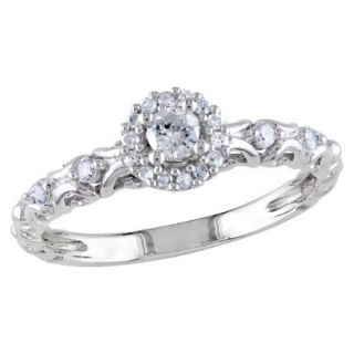 Tevolio 0.25 CT.T.W. Round Diamond Prong Set Ring Sterling Silver (GH I2I3)
