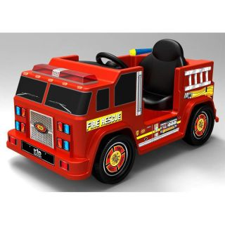 Fire Engine 6V One Seater with Water Gun Battery Powered Riding Toy Multicolor