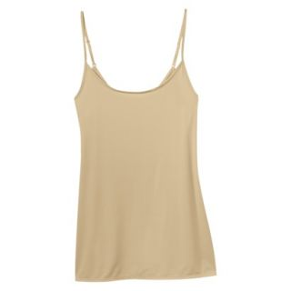 JKY By Jockey Womens Nylon Stretch Cami   Toasted Beige L