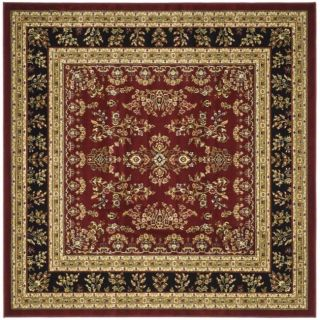 Lyndhurst Collection Red/ Black Rug (8 Square)