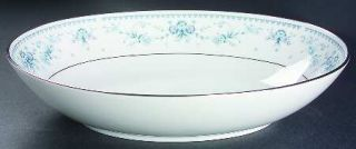Royal Prestige Danielle 10 Oval Vegetable Bowl, Fine China Dinnerware   Blue &