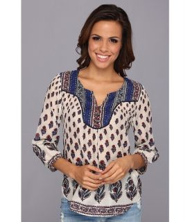Lucky Brand Indian Cotton Boho Womens Blouse (Multi)