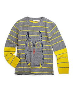 Stella McCartney Kids Toddlers & Little Girls Striped Owl Sweater   Yellow & G