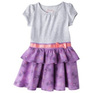 Cherokee Infant Toddler Girls Convertible Dress   Grey 2T