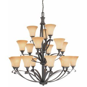 Thomas Lighting THO M235863 Magnolia Chandelier Painted Bronze 18x40