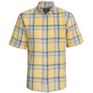 Woolrich Red Creek Plaid Shirt   Short Sleeve (For Men)   SOLAR (L )