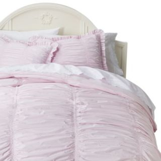 Simply Shabby Chic Rouched Comforter Set   Pink(King)