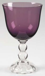 Fostoria Victorian Amethyst (Burgundy) Water Goblet   Stem #4024, Purple  Bowl,