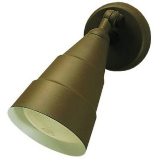 Kichler 6051AZ Outdoor Light, Utilitarian Wall 1 Light Fixture Architectural Bronze
