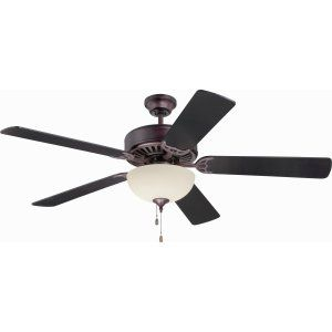 Ellington Fans ELF E208OB Pro 208 52 Ceiling Fan Motor only with Optional Light
