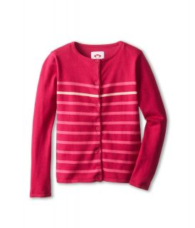 Appaman Kids Knit Stripe Super Soft Boardwalk Cardigan Girls Sweater (Mahogany)