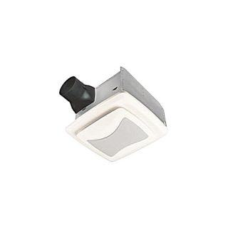 Nutone QTREN110FLT Bathroom Fan, 110 CFM Ultra Silent Series w/ Light, Energy Star Rated for 4 Duct