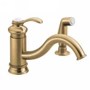 Kohler K 12176 BV Fairfax Single Handle Kitchen Faucet with Side Spray