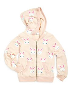 Wildfox Kids Toddlers & Little Girls Snow Bunny Hoodie   Rosy Cheek