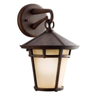 Kichler 9052AGZ Outdoor Light, Transitional Wall Mount 1 Light Fixture Aged Bronze