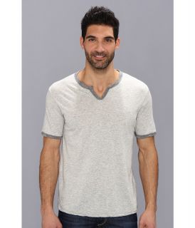 Lucky Brand Weekend Notch Tee Mens Short Sleeve Pullover (Gray)