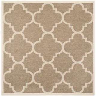 Safavieh Indoor/ Outdoor Courtyard Brown Rug (53 Square)