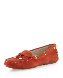 Stephie Suede Moccasin, Orange