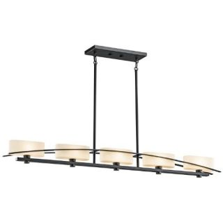 Kichler 42018BK Soft Contemporary/Casual Lifestyle Linear 5 Light Fixture Black (Painted)