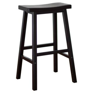 Winsome Wood 29 Inch RTA Single Saddle Seat Bar Stool   Black   20089