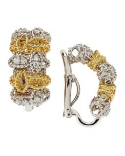 Two Tone Barocco Diamond Earrings