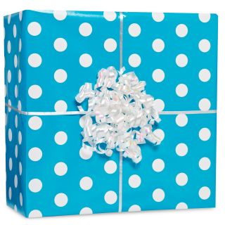 Caribbean Polka Dot Gift Wrap Kit